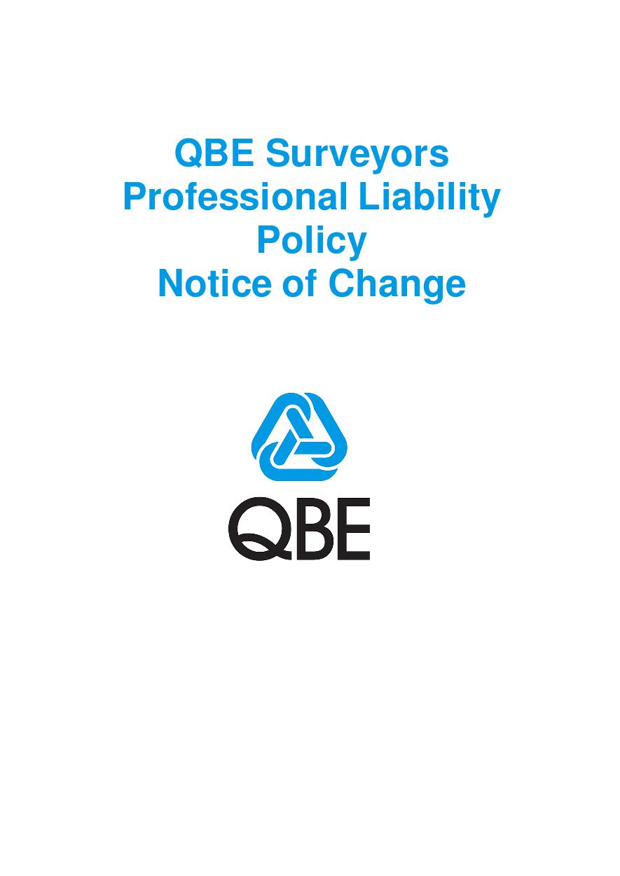 NJPL070121 QBE Surveyors Professional Liability Policy Notice of Change